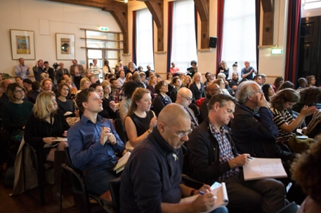 Audience in Doelenzaal during presentation of final report by Diversity Committee (photo: Suzanne Blanchard)