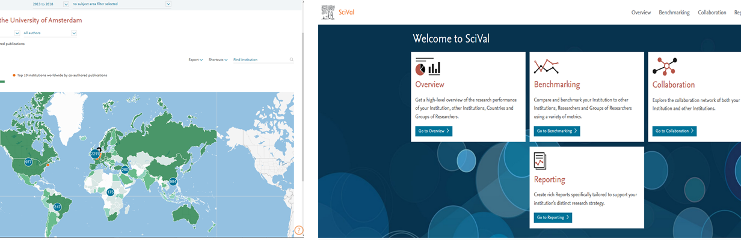 SciVal - Analysis tool for scientific output